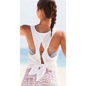VICTORIA SPORT Tie Back Sporty Athletic Tank Top